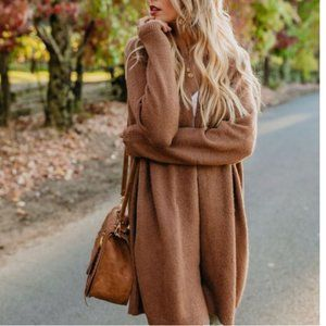 Vici Changing Leaf camel cardigan small